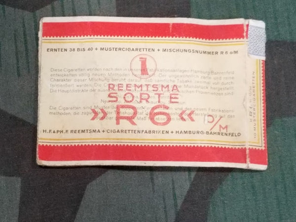 WWII German Paper Reemtsma R6 Cigarette Packaging