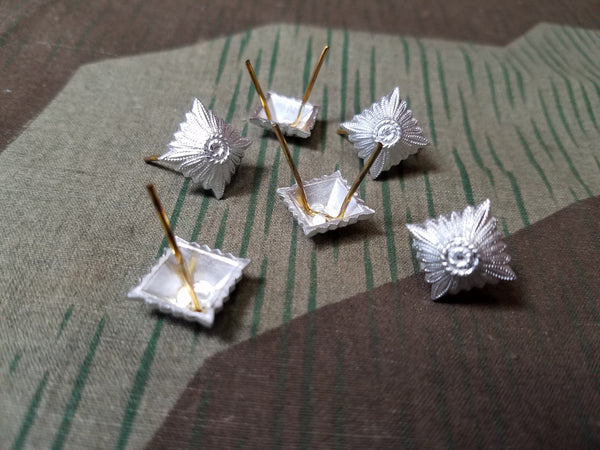 Reproduction WWII German Pips Silver Rank Insignia Pip Stars