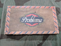 WWII German Problema Wooden Cigar Box with Rpf Tax Seal