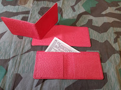 WWII German Red Pressed Paper Wallet