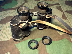 WWII German Reproduction 6X30 Binocular Eye Pieces