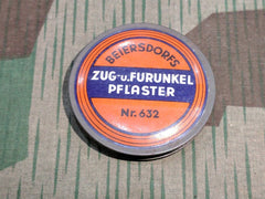 WWII German Small Round Bandage Tin