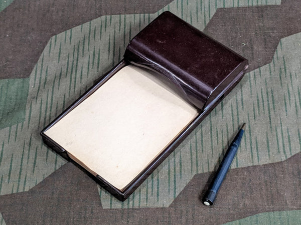 WWII German Soennecken D.R.P. Bakelite Writing Pad with Light & Pencil