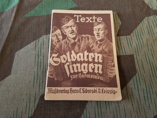 WWII German Soldiers Song Book Text Only for Harmonica