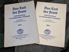 "WWII German Soldiers' Song Books ""Das Lied Der Front"" Heft 1 & 3"