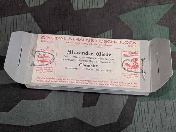 WWII German Strauss-Lösch-Block DRGM DRP Blotting Paper Replacement