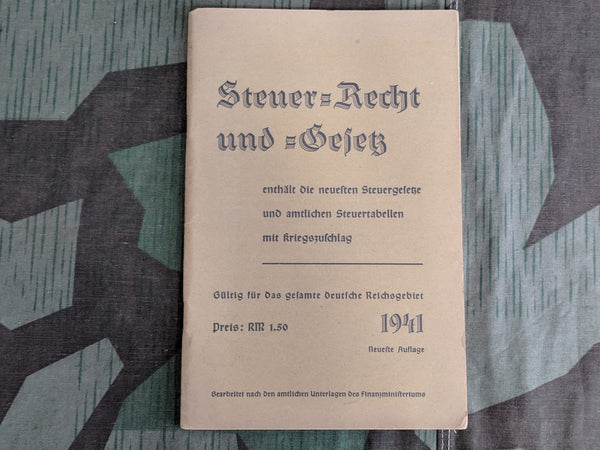 WWII German Taxes, Laws and Rights Book from 1941