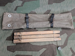 WWII German Tent Pegs with Bag