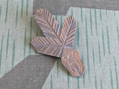"WWII German WHW Carved Wooden ""Tinnie"" Pin"