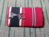 "WWII German War Merit Cross and Eastern Front ""Frozen Meat"" Ribbon Bar"