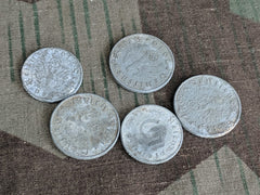 WWII German Zinc Reichspfenning Pocket Change - Set of 5 Coins