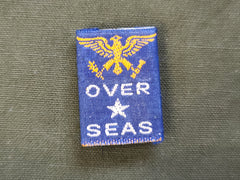 """Over Seas"" Fabric Pin"