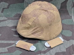 WWII Repro German Amoeba Helmet Cover and Board Slips