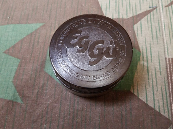 WWII Style German Eg-gu Shoe Polish Glass / Bakelite