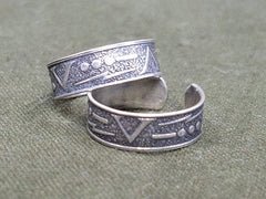 WWII Sweetheart V for Victory Morse Code Ring Sterling 925 ASW