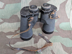 WWII U.S. M15 7X50 Binoculars Clear Optics