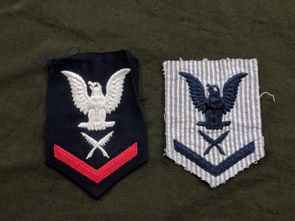 WWII US Navy Women's WAVES Yeoman 3rd Class Patches