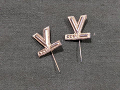 WWII V for Victory Morse Code Stick Pin Sweetheart Jewelry