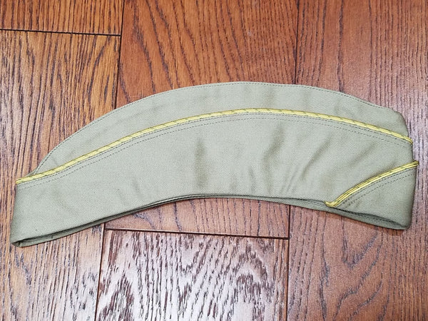 WWII WAC Khaki Women's Army Garrison Hat Side Cap Uniform