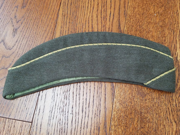 WWII WAC OD Green Women's Army Garrison Hat Side Cap Uniform