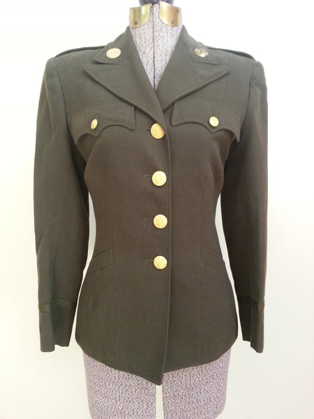 WWII WAC Officer's Uniform Tunic (size 8R) - Women's Army Corps