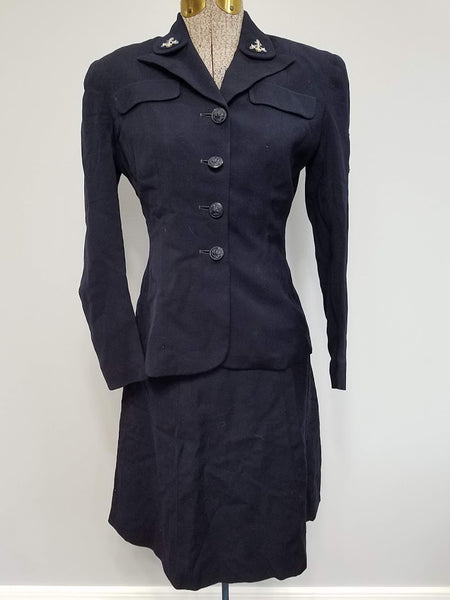 WWII WAVES Women's Navy Uniform Jacket & Skirt Vintage 1940s