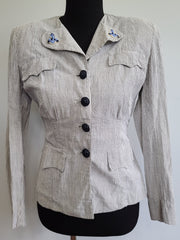 WWII WAVES Women's Navy Seersucker Uniform Jacket