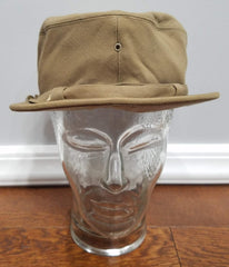 WWII Women's WAC Tan Hobby Hat Uniform Size 23 1/2 Saks Fifth Ave