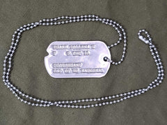 WWII Women's Dep of US National Dog Tag