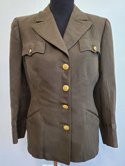 Original WWII Women's WAC / ANC Officer's Jacket Uniform 16S