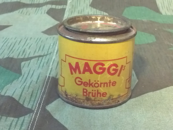 WWII era German Maggi's Gekörnte Brühe Soup Mix Can Rations