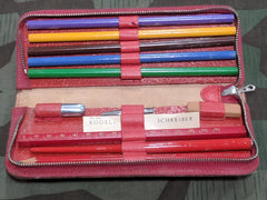 Period Red Pencil Case w/ Contents