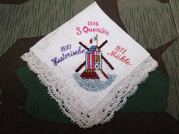 WWI German 1916 S Quentin Handkerchief