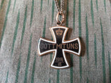 WWI German Gott Mit Uns Iron Cross Sweetheart Necklace