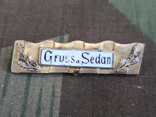 WWI German Gruss a Sedan France Brooch Sweetheart Pin
