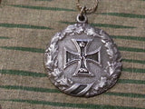WWI German Iron Cross Sweetheart Necklace