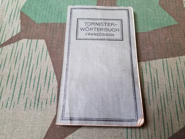 WWI Tornister Wörterbuch German-French Dictionary