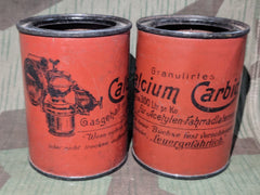 WWI era German Bicycle Light Carbide Cans