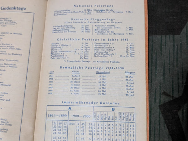 Original 1943 Desk Appointment Book (with Traffic and Post Info)