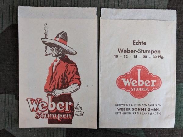 Weber Cigar Paper Bags (Set of 5)