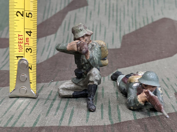 Elastolin Composition Toy Soldier Figures (Set of 2)