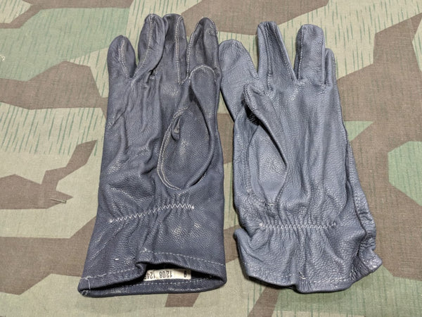 Gray German Leather Gloves Size 9
