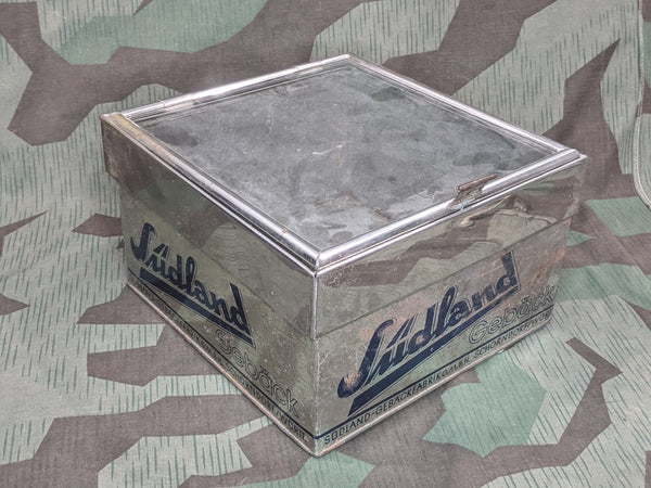 Vintage 1930s German Südland Baked Goods Sales Display Box Tin