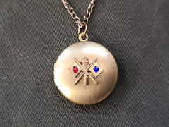 Signal Corps Locket Sweetheart Necklace