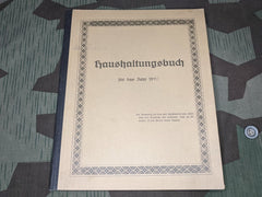 Haushaltungsbuch Home Accounting Book 1940
