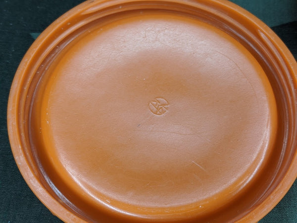 Original Orange Butter Dish AS-IS