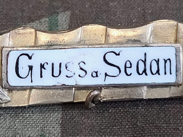 Gruss a. Sedan WWI Brooch