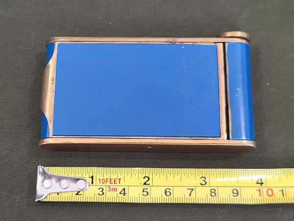 Blue Makeup Compact and Lipstick Holder