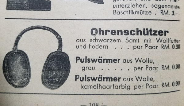 Original German Earmuffs AS-IS