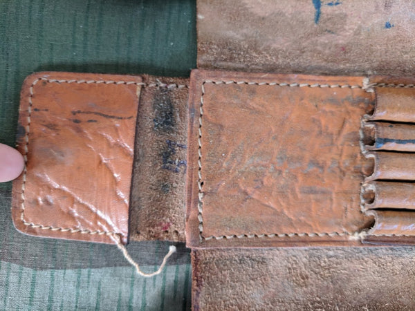 Brown Leather Pencil Case with Snap Closure